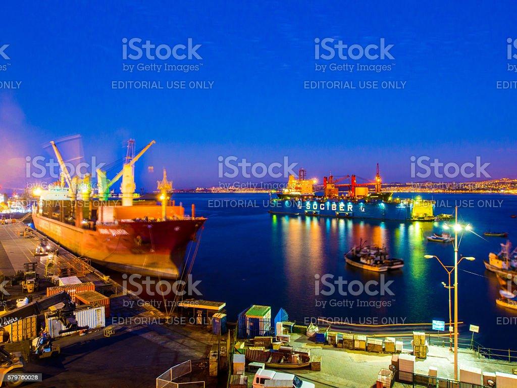 Valparaiso Port stock photo