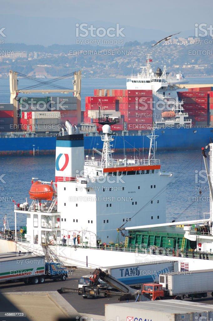 Valparaiso Seaport royalty-free stock photo