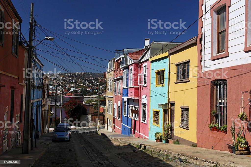 Valparaiso street stock photo