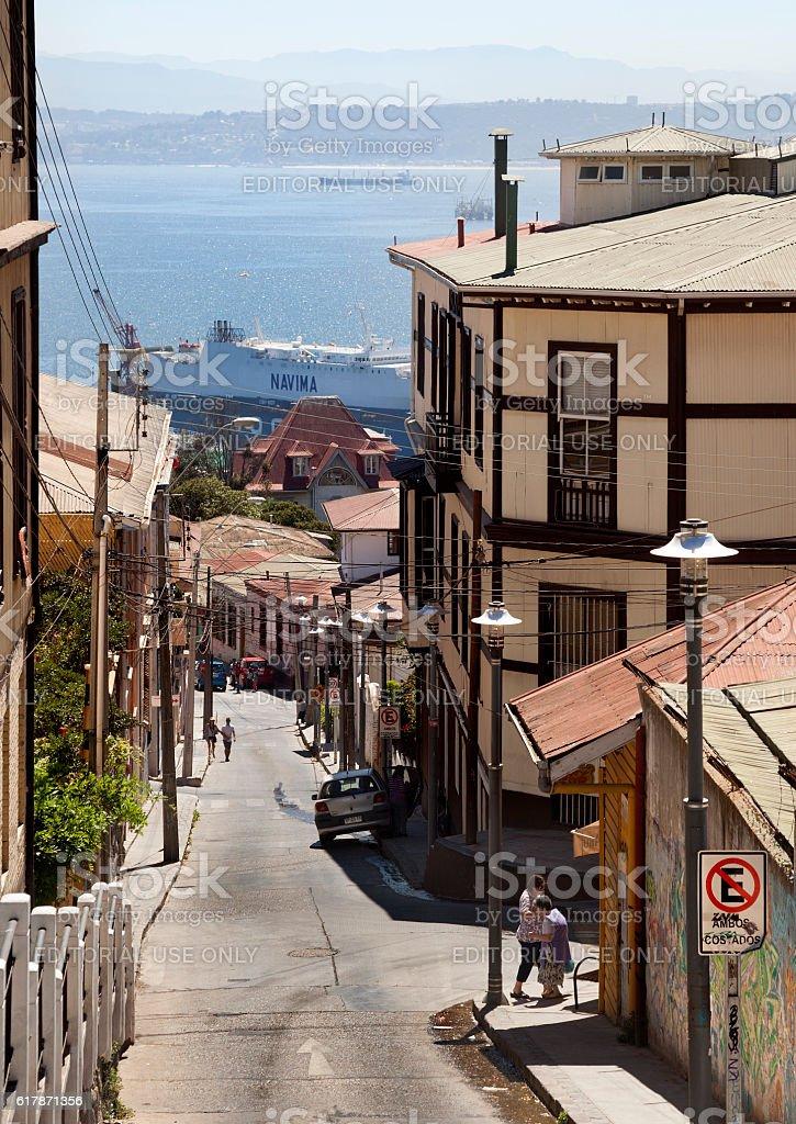 Valparaíso City, Chile stock photo