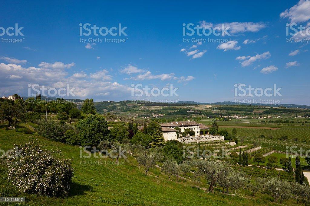 Valpolicella Panorama, Italy royalty-free stock photo