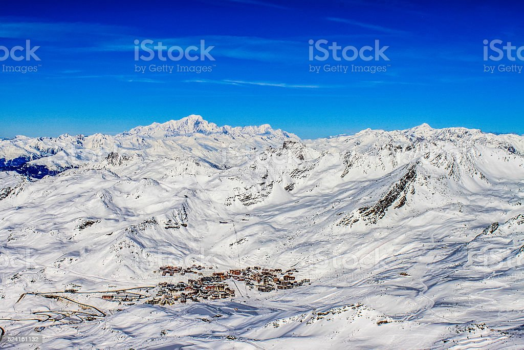 Val-Thorens from above stock photo