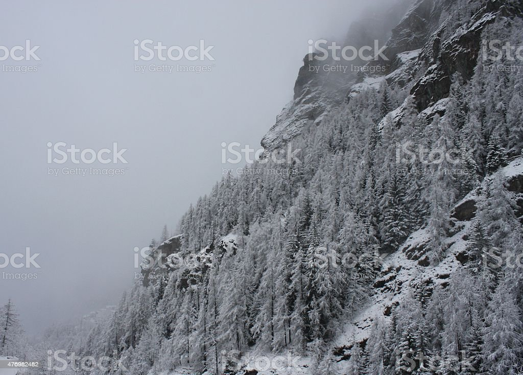 Valtournenche stock photo