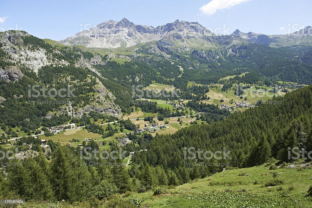 Valtournenche Valley stock photo