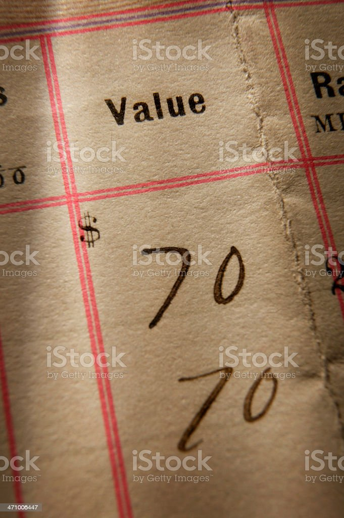 Value 2 royalty-free stock photo