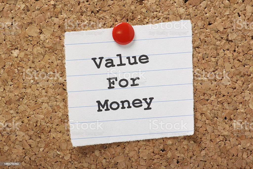 Value For Money stock photo