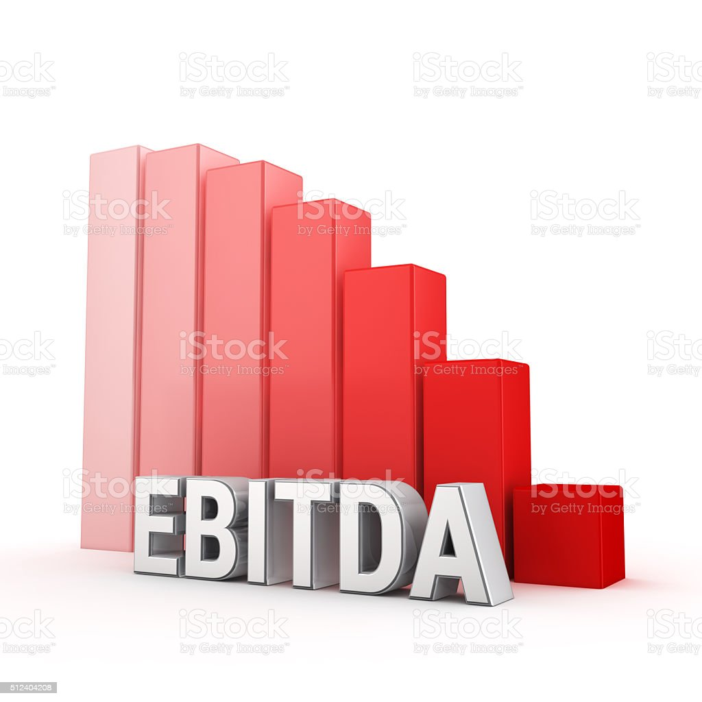 EBITDA value is going down stock photo