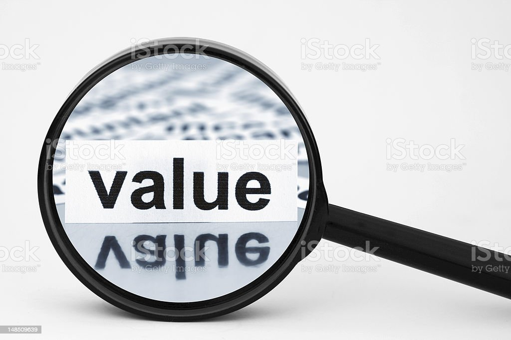 Value royalty-free stock photo