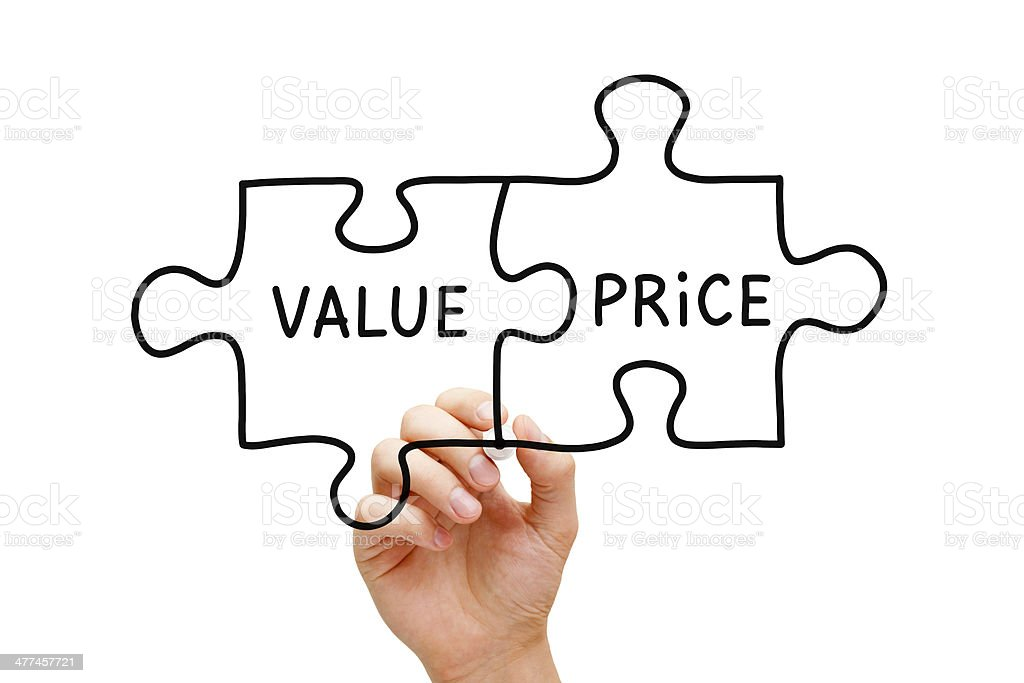Value Price Puzzle Concept stock photo