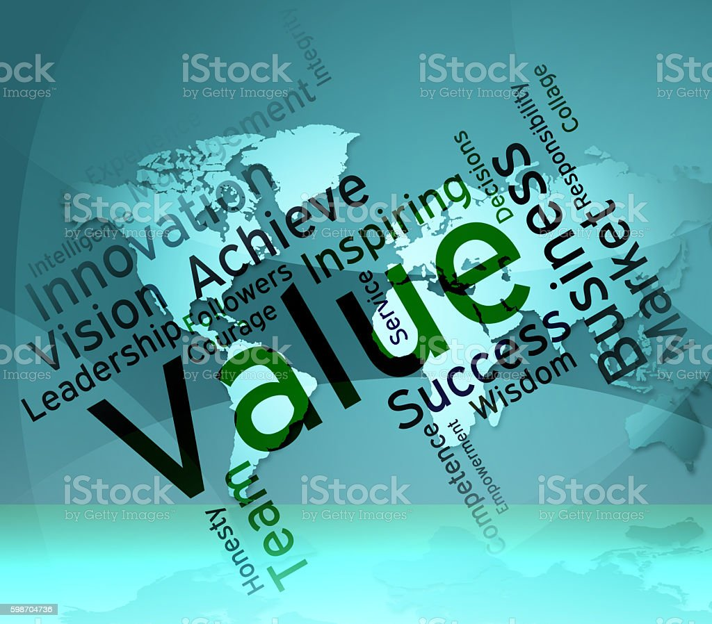 Value Words Means Quality Assurance And Approve stock photo