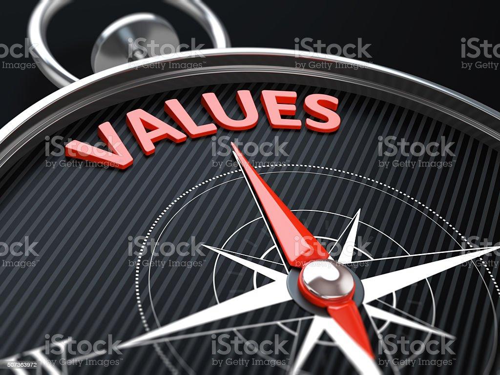 Values stock photo