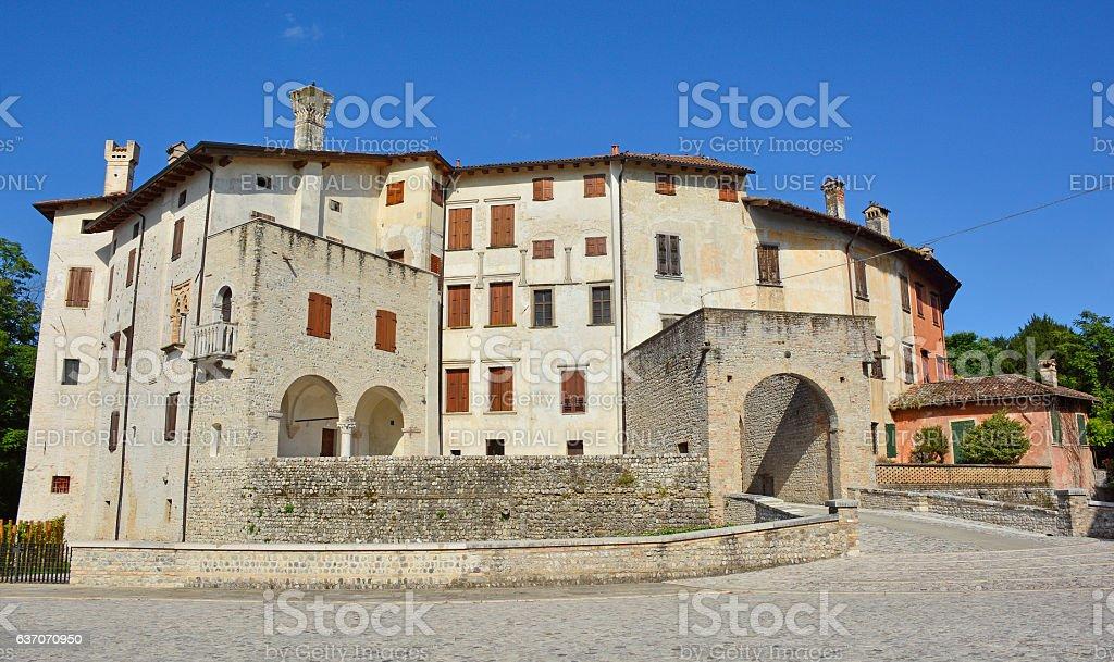 Valvasone  Castle stock photo