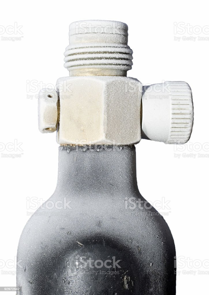 Valve after fill with gas royalty-free stock photo