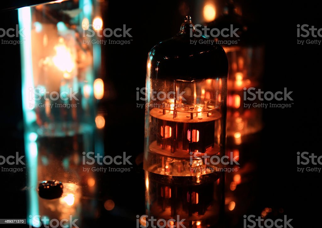 Valve Amplifier close up stock photo