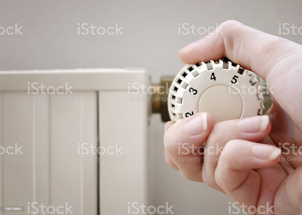 Valve and hand stock photo