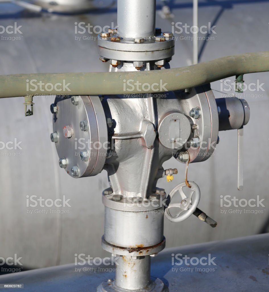 valve for the closure of the distribution of methane gas stock photo