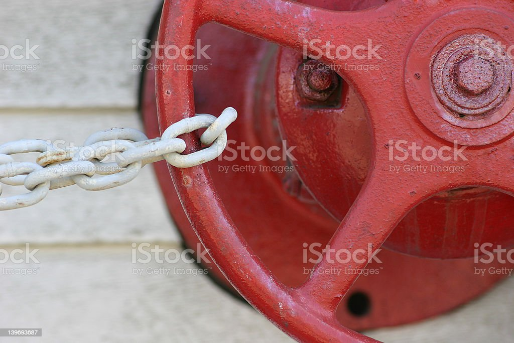 Valve Imprisoned by Chain stock photo