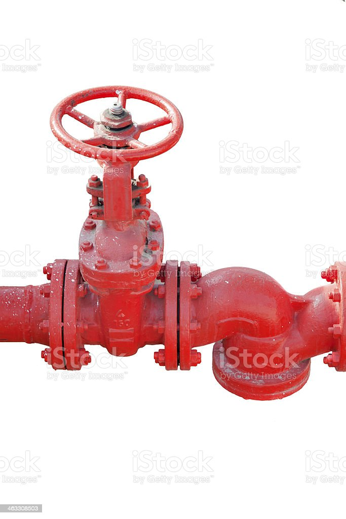Valve isolated on white stock photo