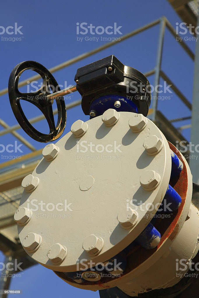 Valve of Oil Pipeline royalty-free stock photo