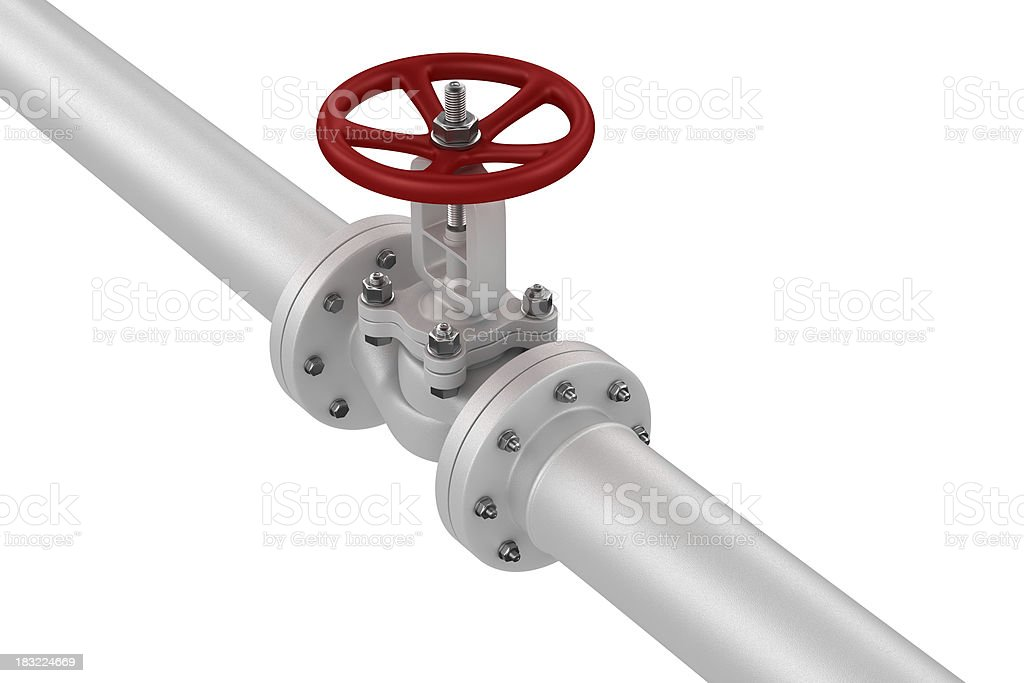 Valve on the pipeline royalty-free stock photo
