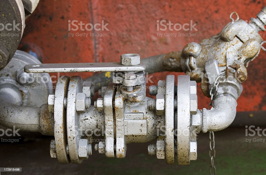 valve on water pipe royalty-free stock photo