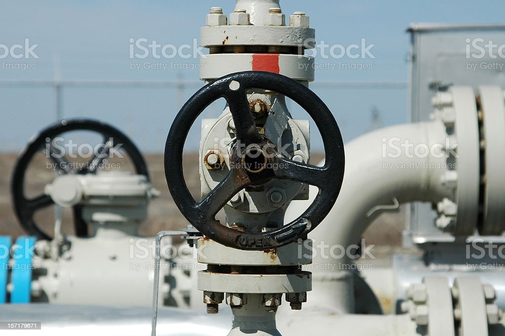 Valve - pipeline stock photo