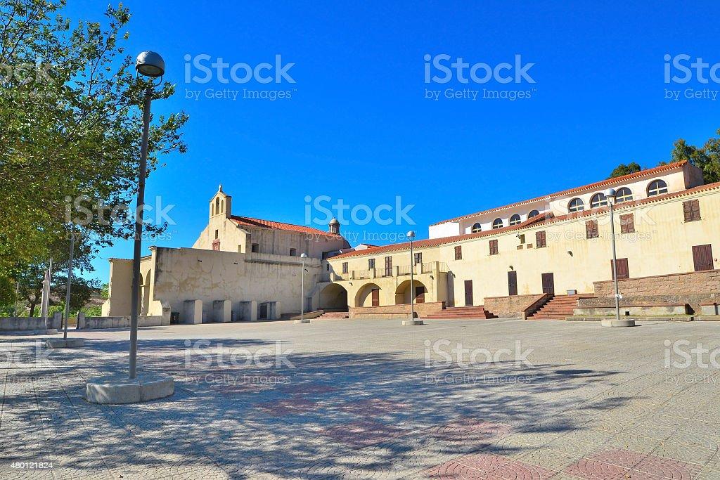 Valverde sanctuary square in Alghero stock photo