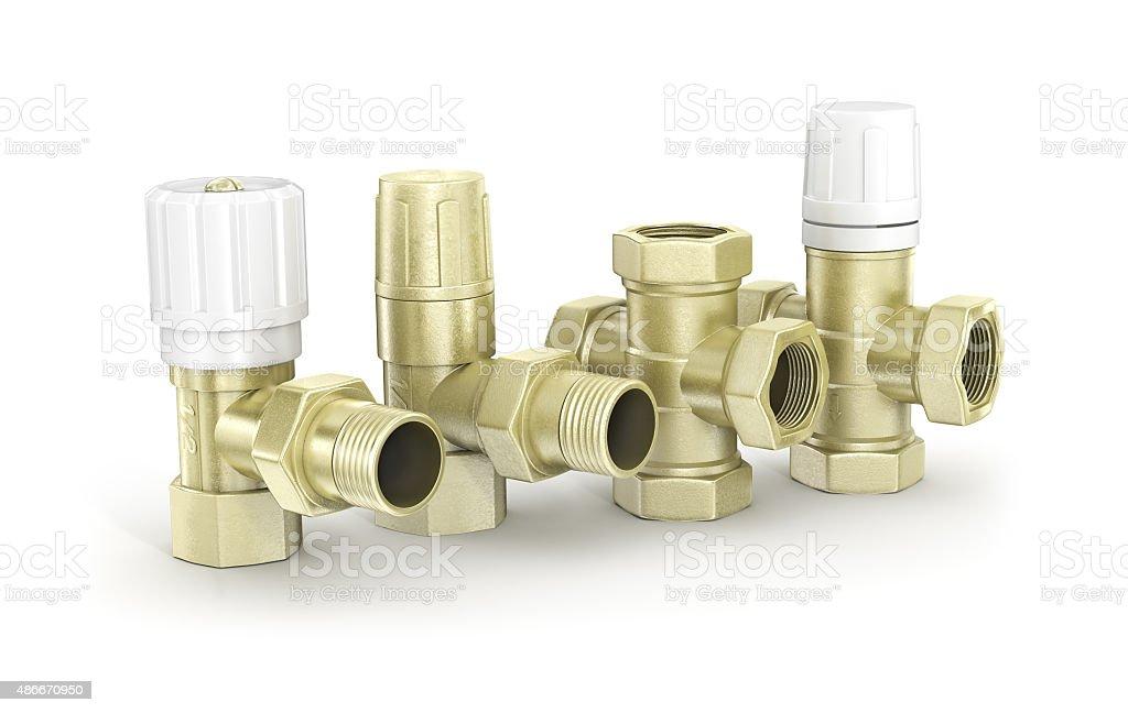 Valves and taps, sanitary ware stock photo