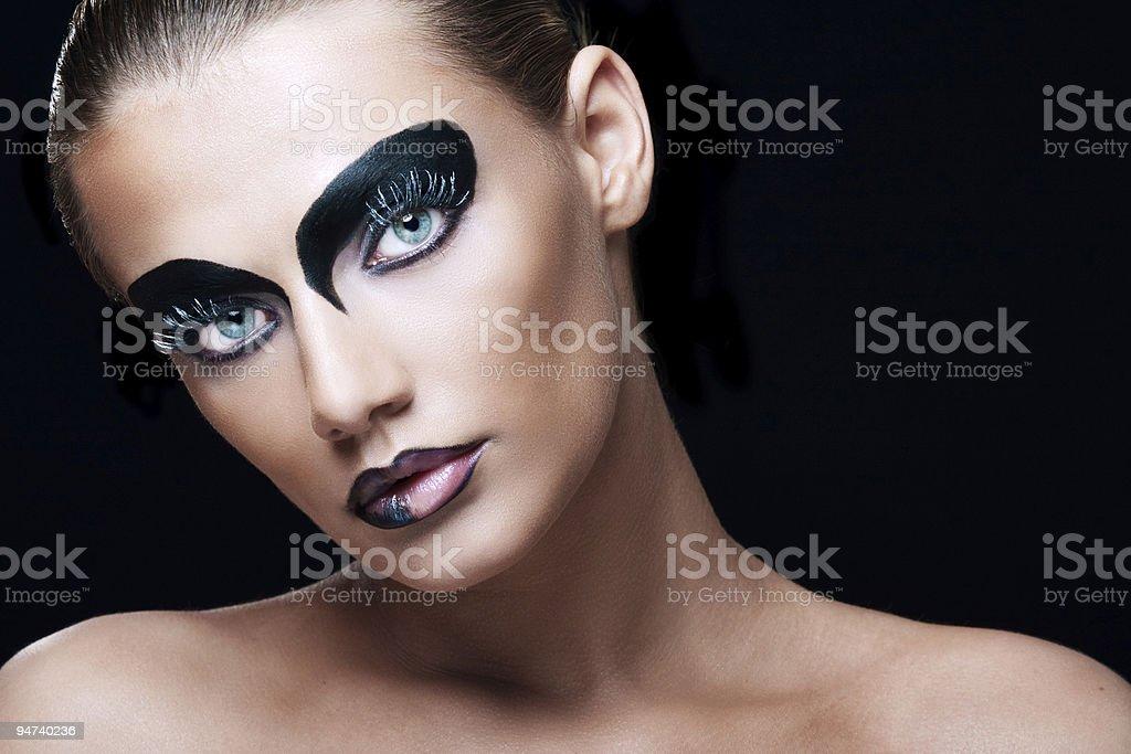 vamp girl royalty-free stock photo