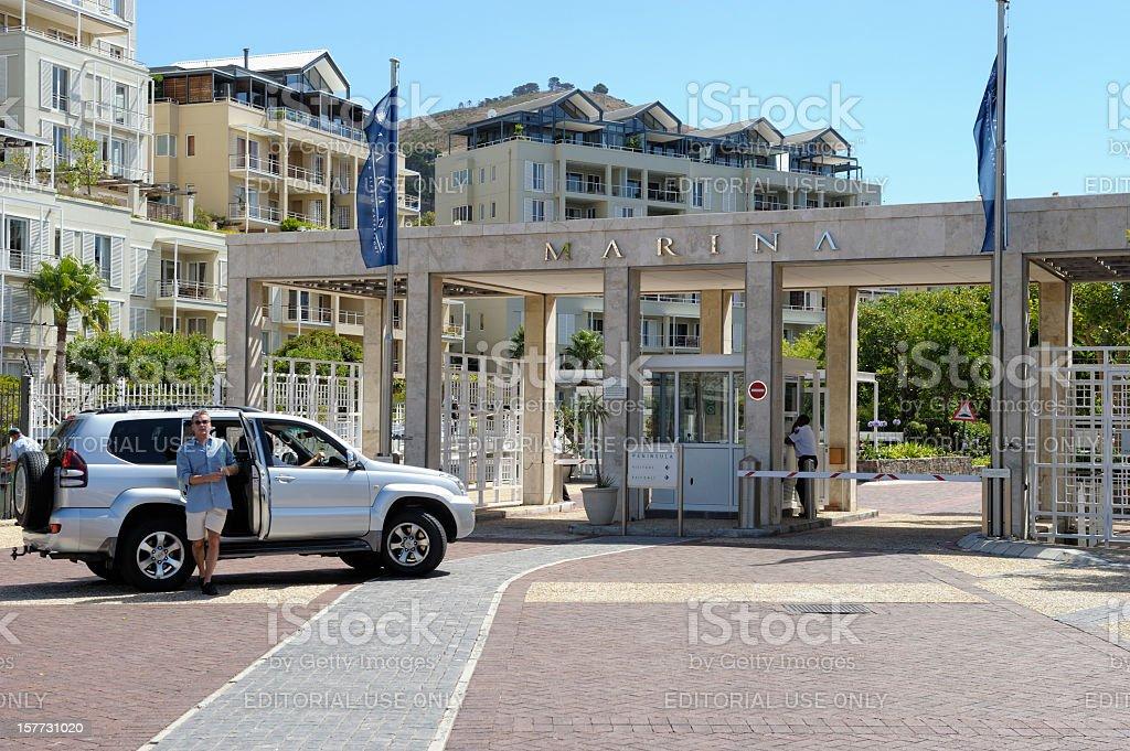 V&A Waterfront Marina Cape Town stock photo