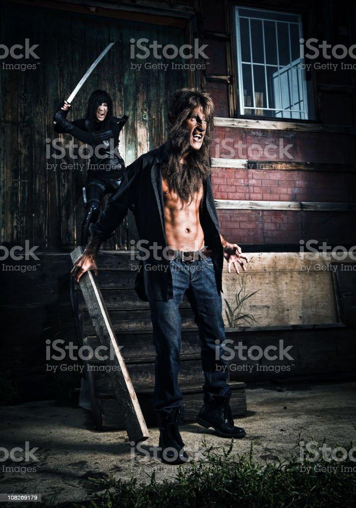 vampire and werewolf tales stock photo