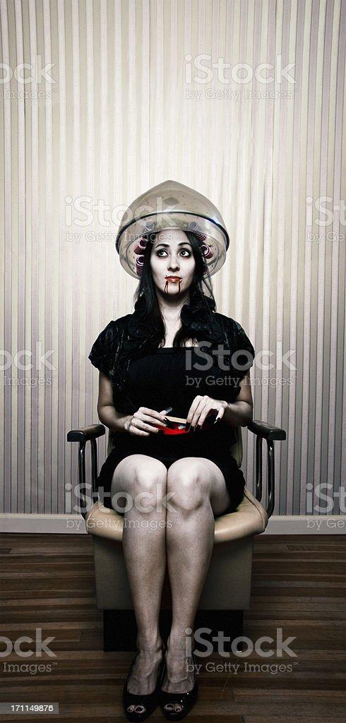 vampire at the salon stock photo