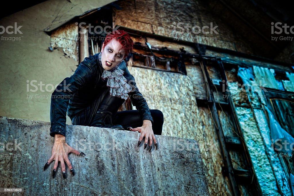 Vampire Awakens stock photo