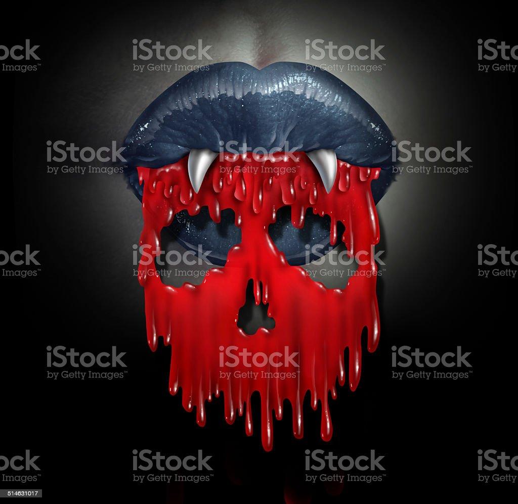 Vampire Blood Concept stock photo