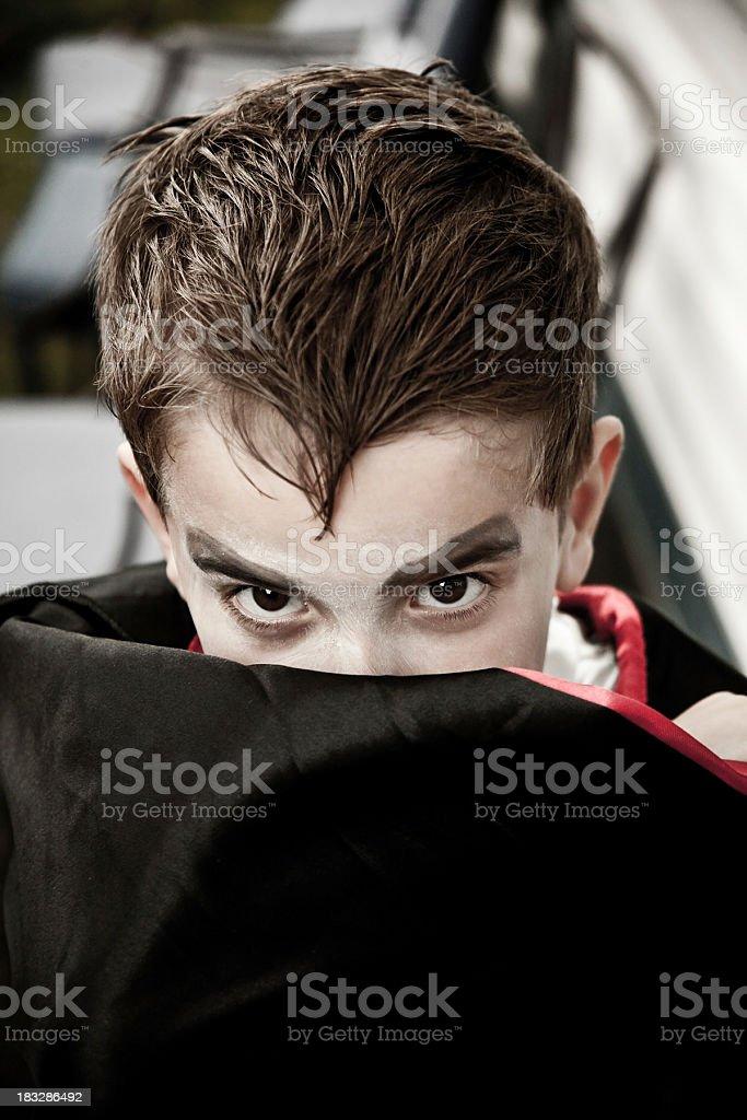 Vampire boy stock photo