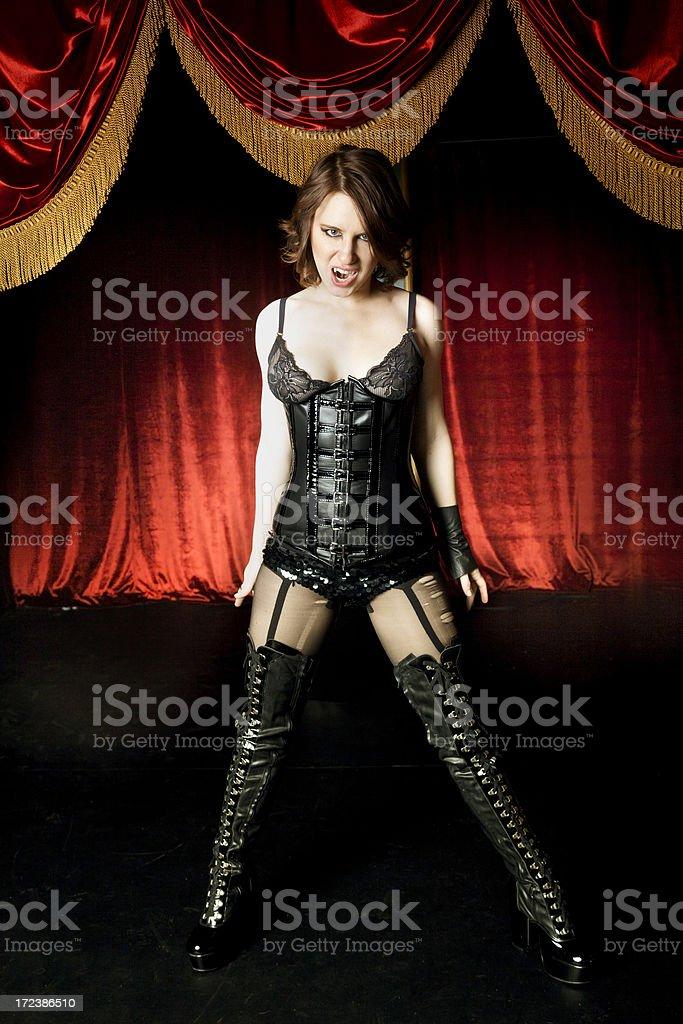 Vampire Cabaret Dancer stock photo