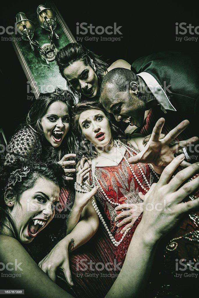 Vampire Feast royalty-free stock photo