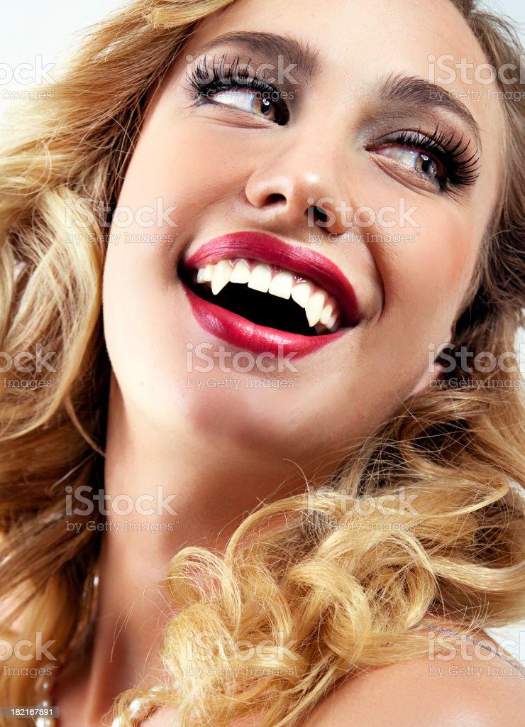 Vampire pin up stock photo