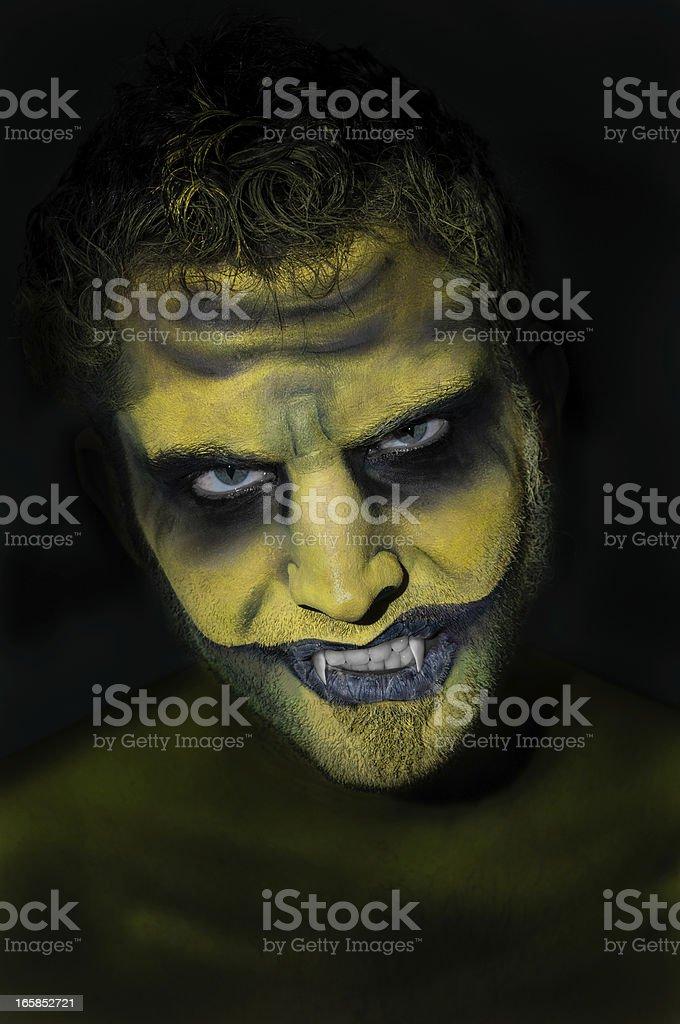 Vampire.. Somewhere in the dark.. stock photo