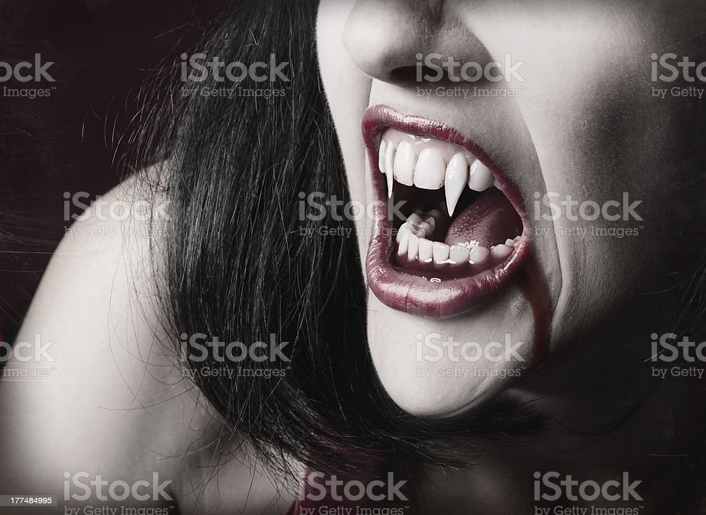 Vampire Teeth royalty-free stock photo