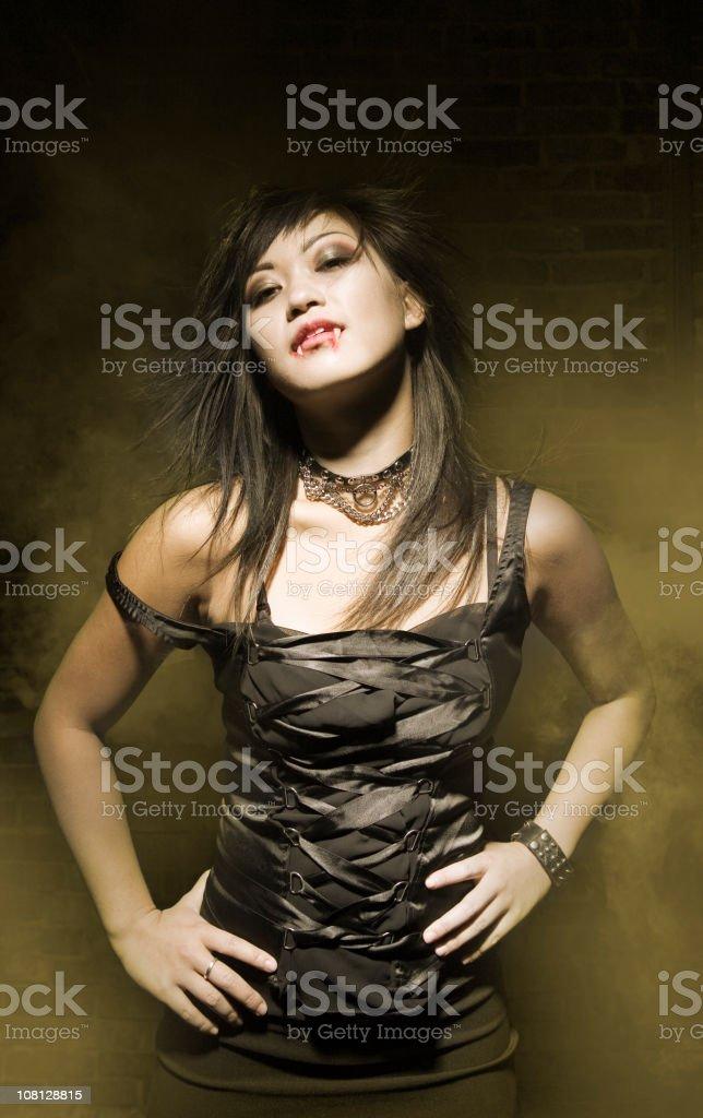 Vampire with Smoke royalty-free stock photo