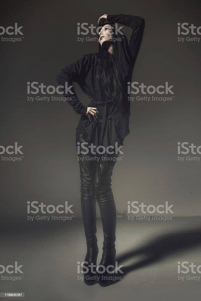 Vampire woman posing royalty-free stock photo