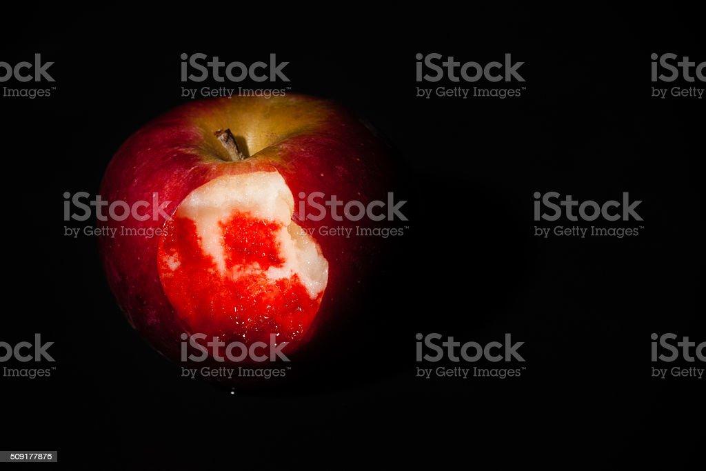 Vampire's Apple stock photo
