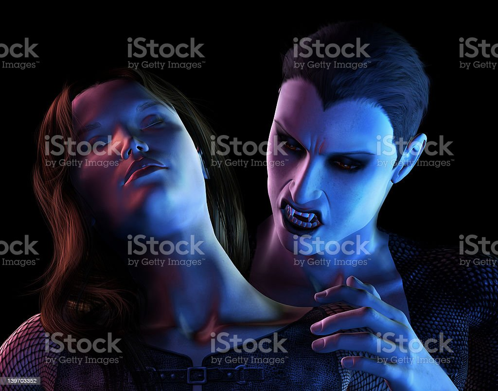 Vampire's Bite royalty-free stock photo