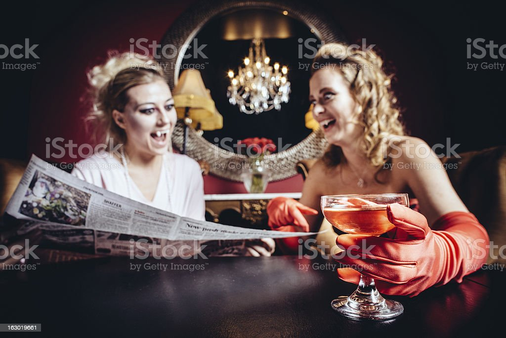 Vampire's Breakfast royalty-free stock photo