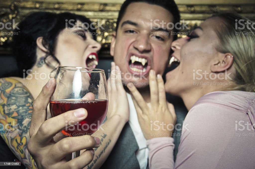 Vampires Partying and Having Fun royalty-free stock photo