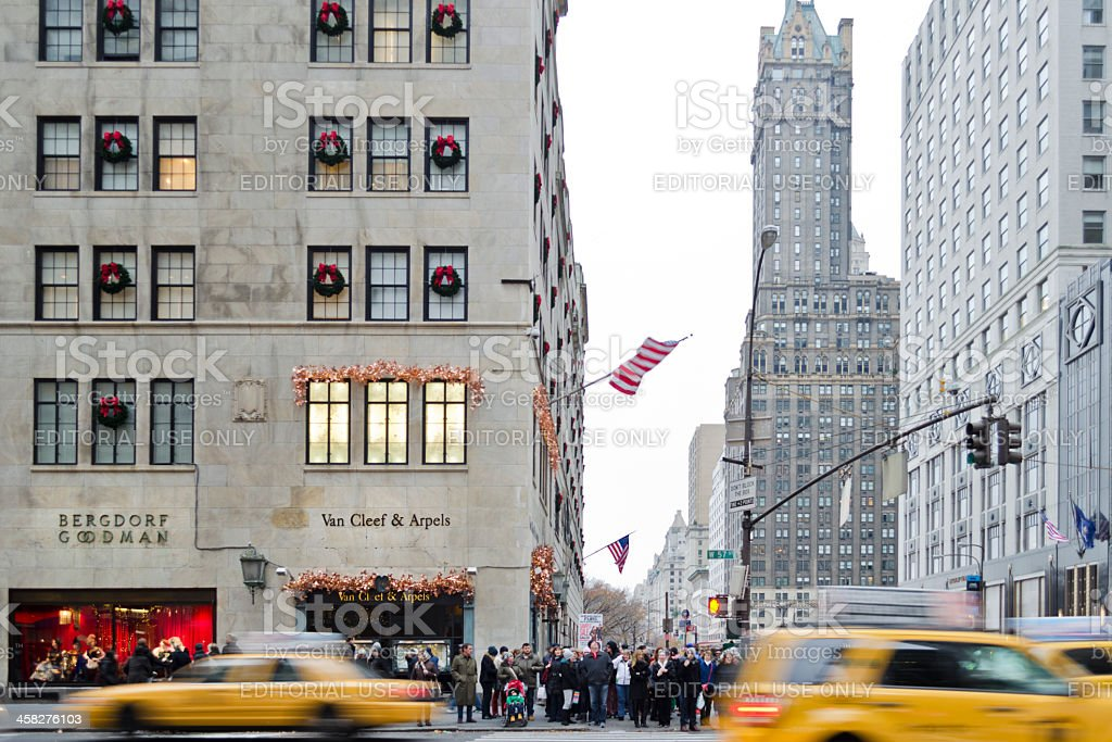Van Cleef & Arpels Jewellery And Bergdorf Goodman New York royalty-free stock photo