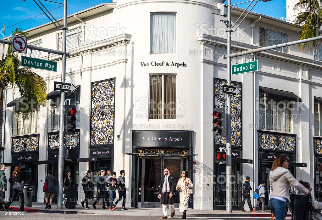 Van Cleef & Arpels  on Rodeo Drive, Beverly Hills stock photo