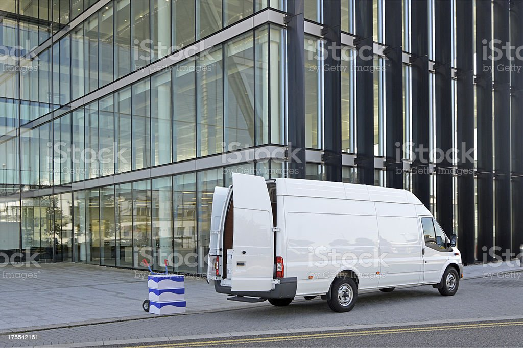 Van Delivery royalty-free stock photo