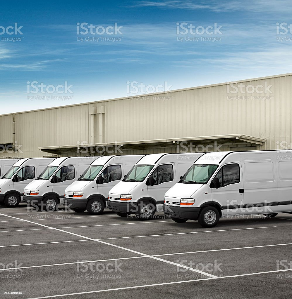 Van fleet stock photo